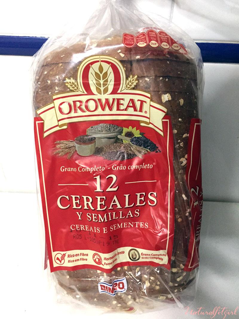 paquete de tostadas de 12 cereales y semillas oroweat