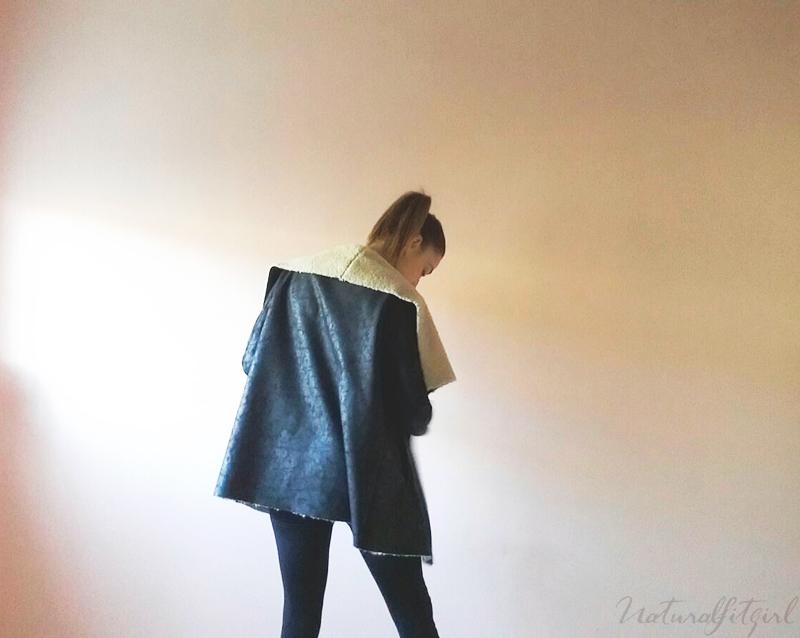 chaqueta forro borrego negra
