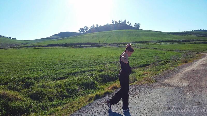 ejercicio saludable en el embarazo, aire libre