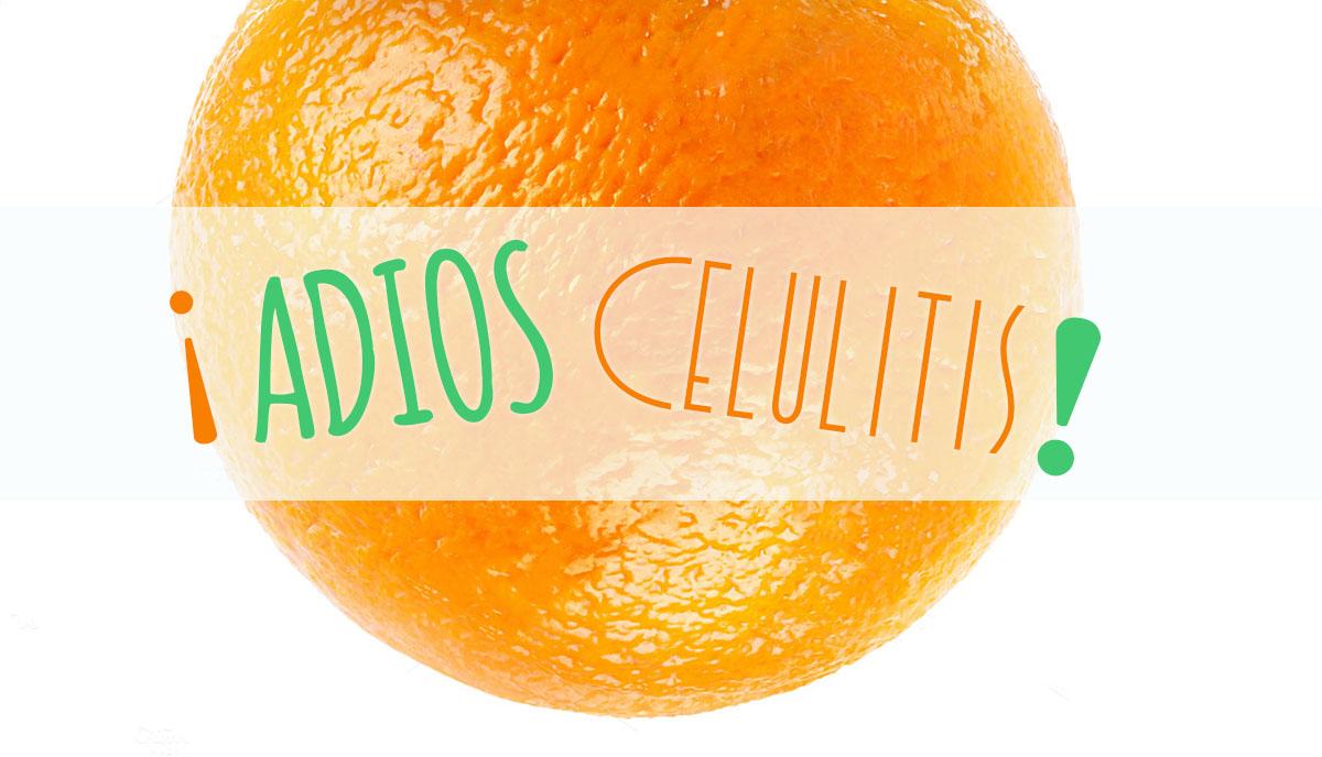 Naranja con letras Adios Celulitis
