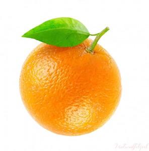 naranja sobre fondo blanco