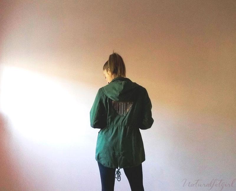 parka verde estilo boho chic
