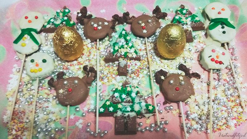 presentación en bandeja de las figuras navideñas
