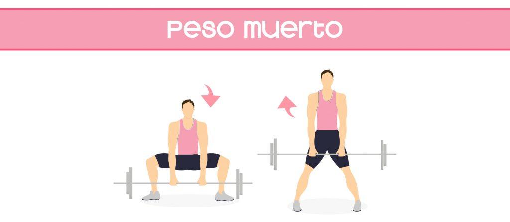 ejercicio peso muerto para fortalecer la zona lumbar