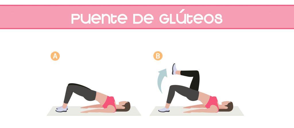 Ejercicios de puente de gluteos para reforzar la musculatura lumbar